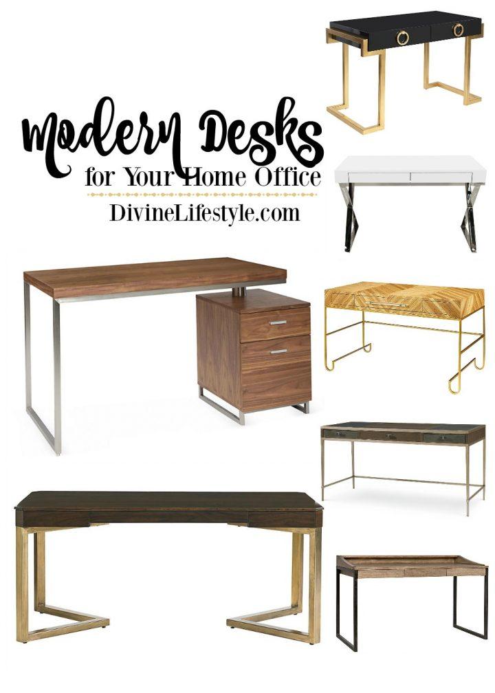Sleek Modern Desks For The Home Office