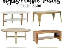 Stylish Coffee Tables Under $300