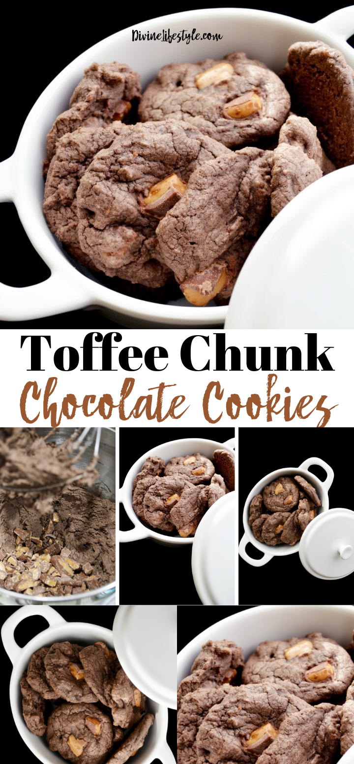 Toffee Chunk Chocolate Cookies