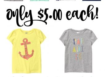 $5 Deals on Girls' Favorite Tees