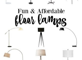 Fun & Affordable Floor Lamps