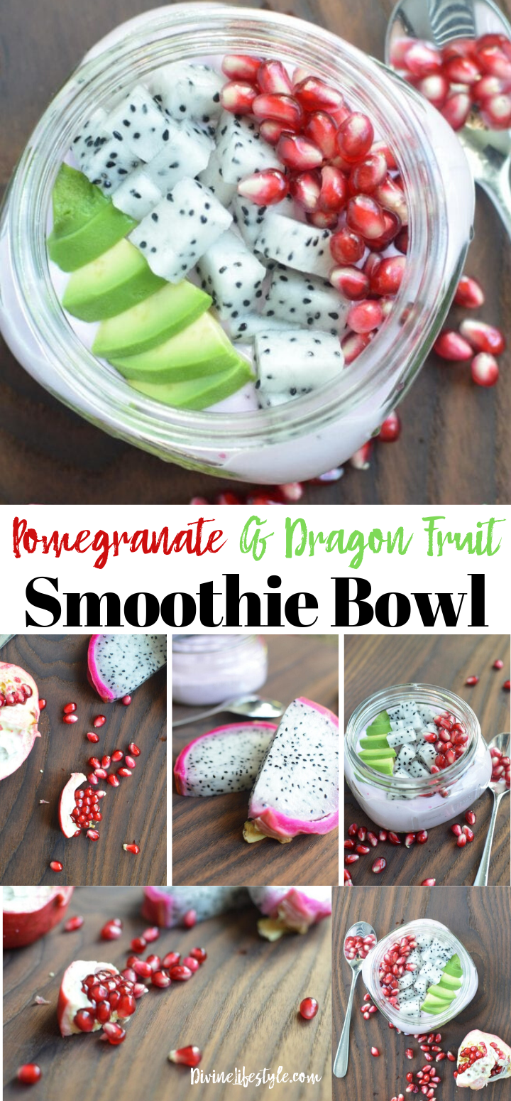 Pomegranate and Dragon Fruit Smoothie Bowl Recipe