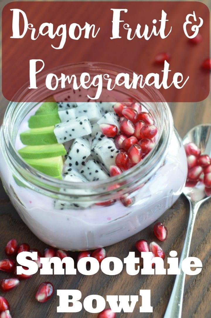 Dragon Fruit and Pomegranate Yogurt Smoothie Bowl Recipe