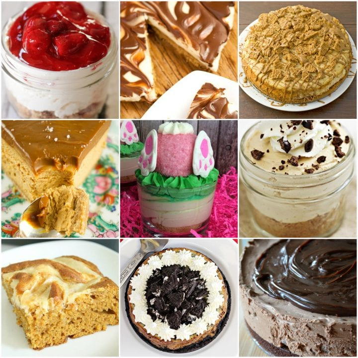 17 Cheesecake Recipes collage.