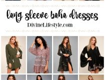 Long Sleeve Boho Dresses