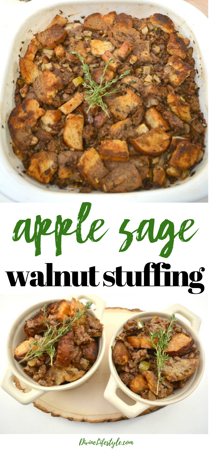 Apple Sage Walnut Stuffing Recipe