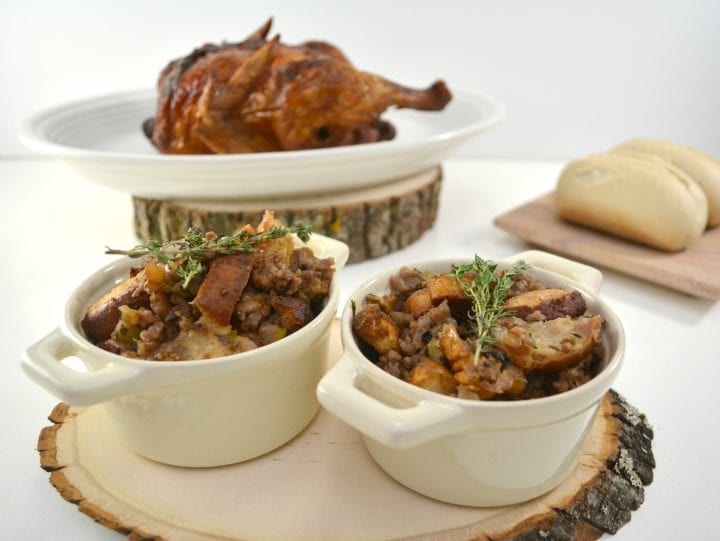 Apple Sage Walnut Stuffing Recipe ~ DivineLifestyle.com