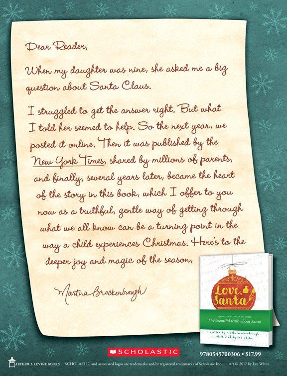 Love, Santa: A book for sharing the beautiful truth about Santa #LoveSantaBook