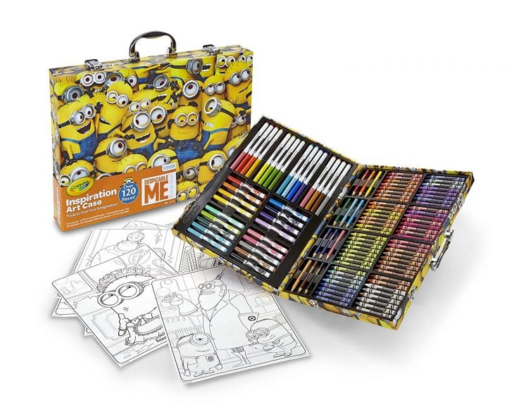 This art case is the perfect Minion stocking stuffer for the little artist.