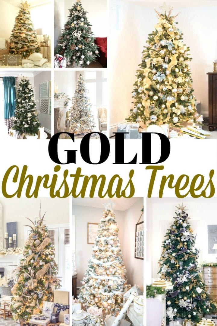 20 Gold Christmas Trees