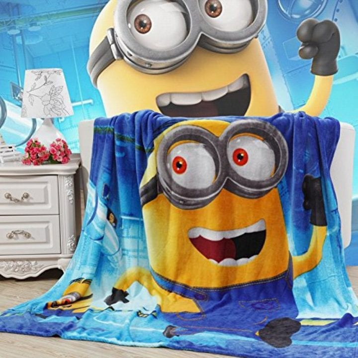 This fleece blanket is one of the cutest Minion stocking stuffers you'll find.