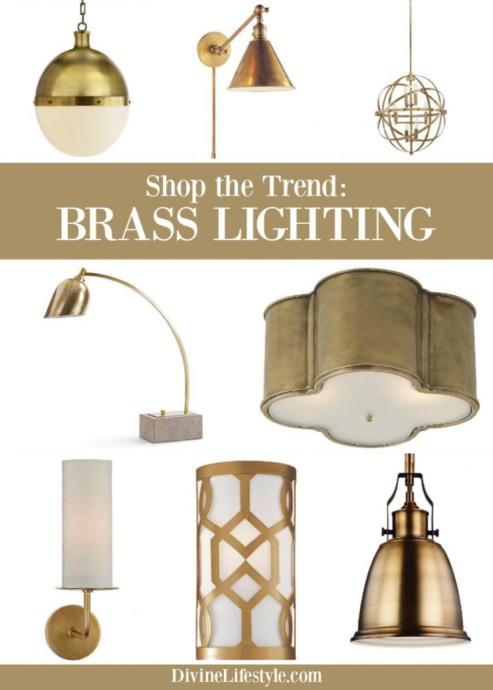 Shop the Trend: Brass Lighting