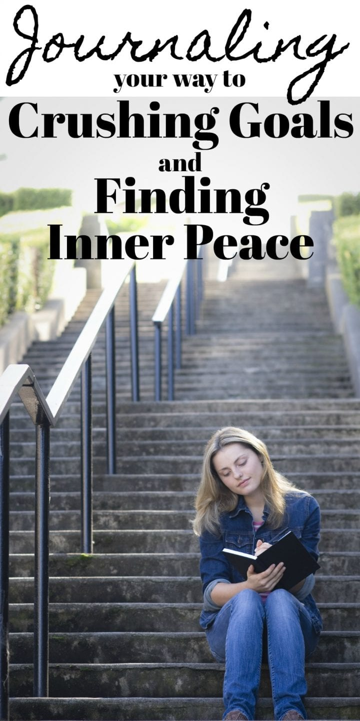 Journaling makes finding inner peace easier by helping guide you towards your goals and understand your feelings.
