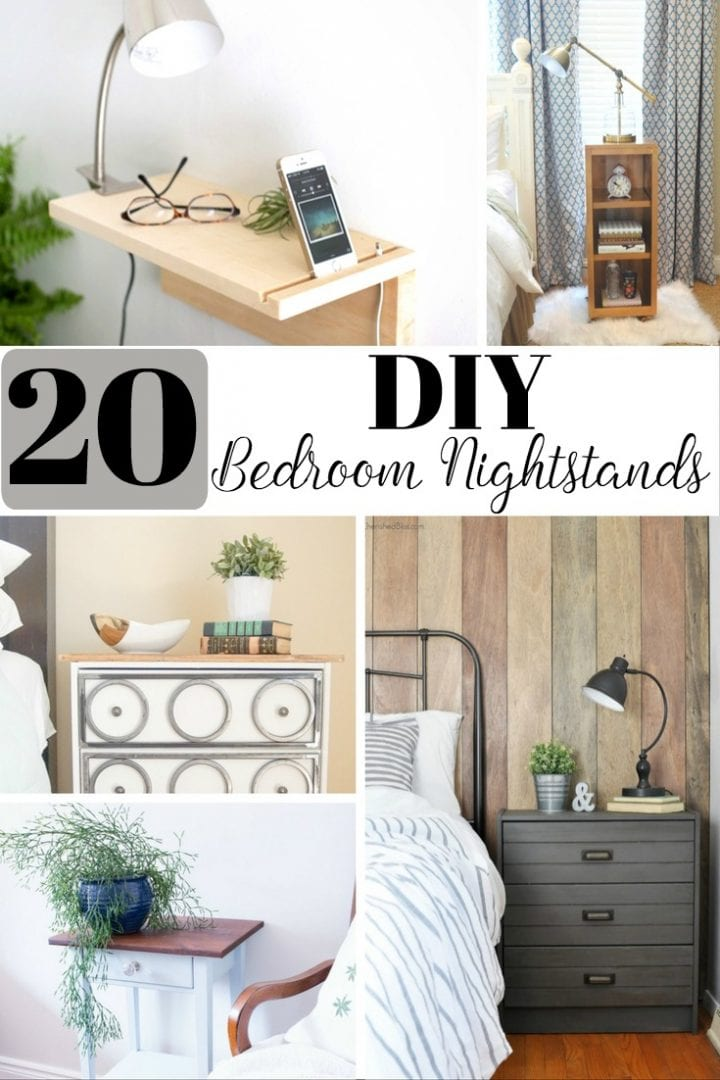 20 DIY Bedroom Nightstands