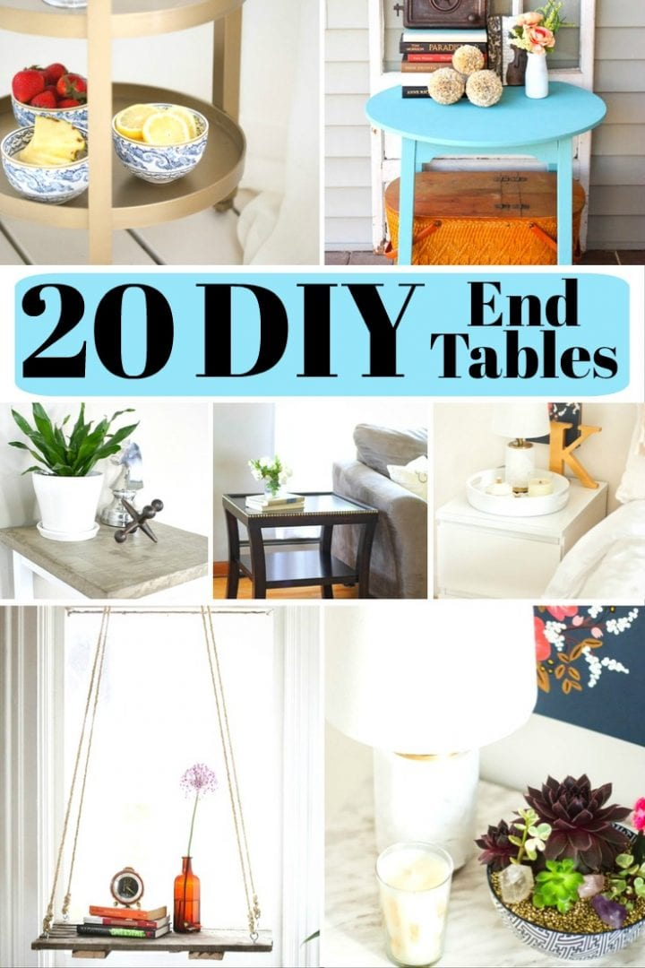 20 DIY End Tables
