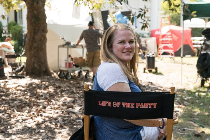 LIFE OF THE PARTY movie set visit with Melissa McCarthy