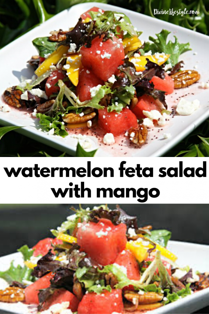 Best Ever Watermelon Feta Salad with Mango