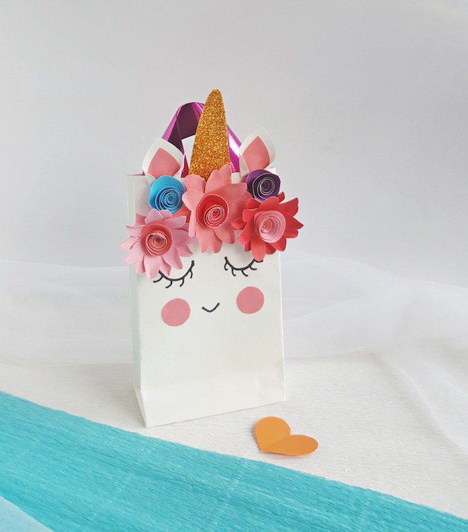 DIY Unicorn Gift Bag Birthday Party Goodie Bag