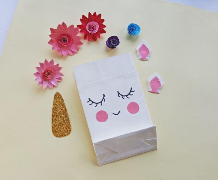 DIY Unicorn Gift Bag Assemble the pieces