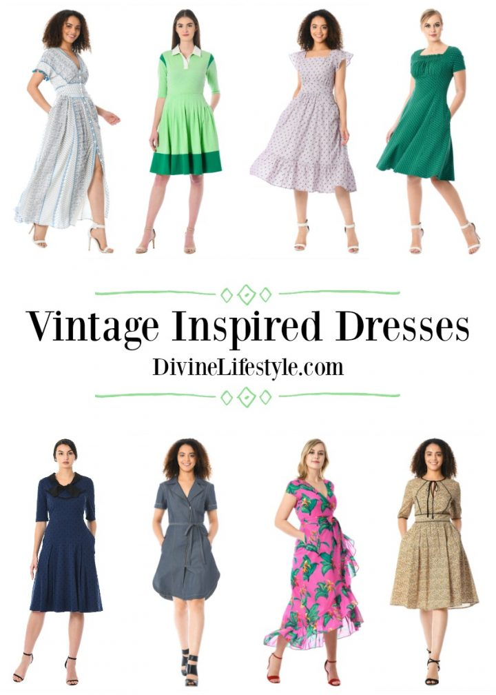 Vintage Inspired Dresses for Spring and Summer collage