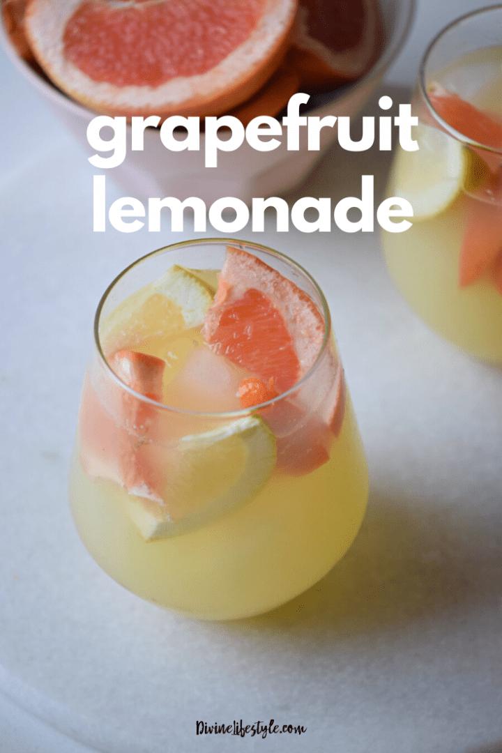 Grapefruit Lemonade Recipe