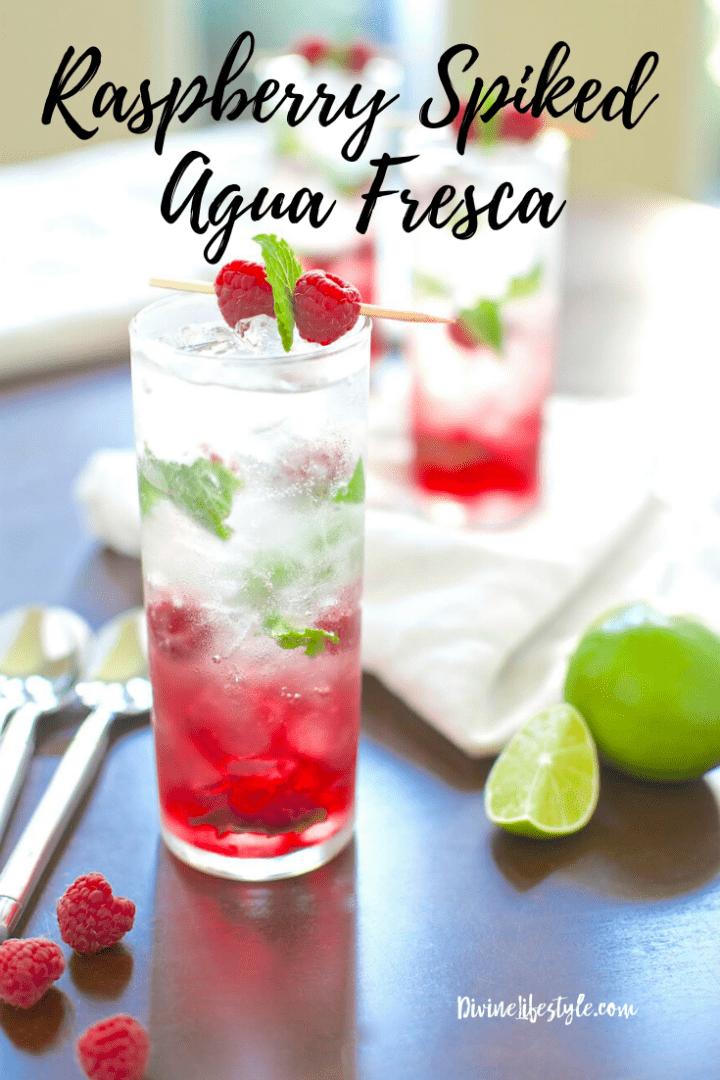 Raspberry Spiked Agua Fresca Recipe
