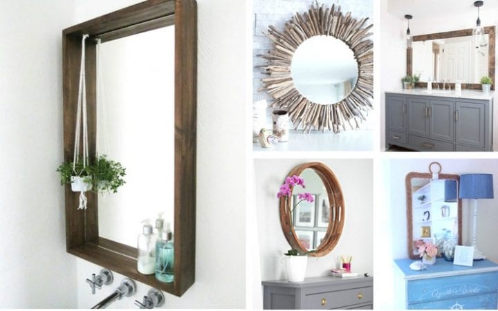 20 DIY Farmhouse Mirrors