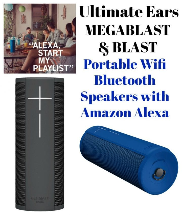 Ultimate Ears Portable Wifi Speakers with Amazon Alexa