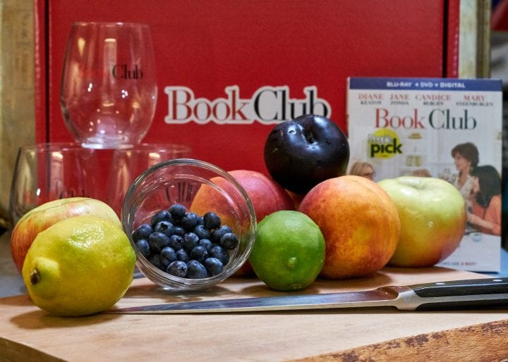 Girls Night In: Fruity White Sangria Recipe plus Book Club the Movie #BookClub
