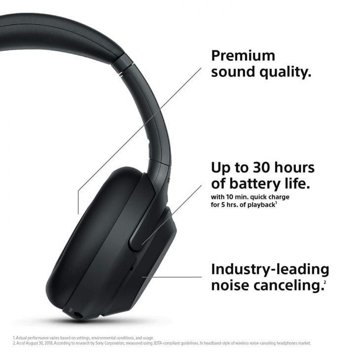 Sony Wireless Industry Leading Noise Canceling Over Ear Headphones