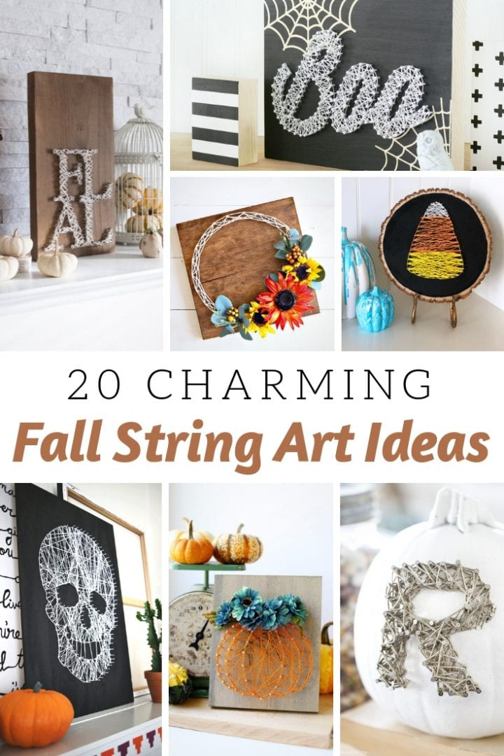 20 DIY Fabulous Fall String Art Ideas