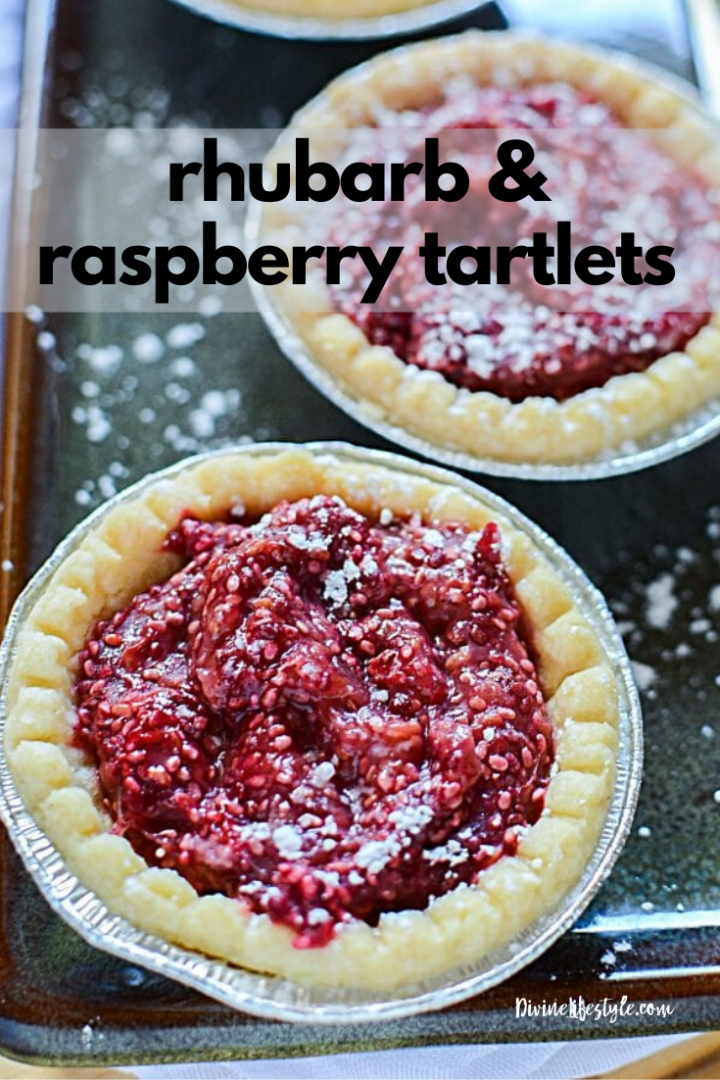 Rhubarb and Raspberry Tartlets