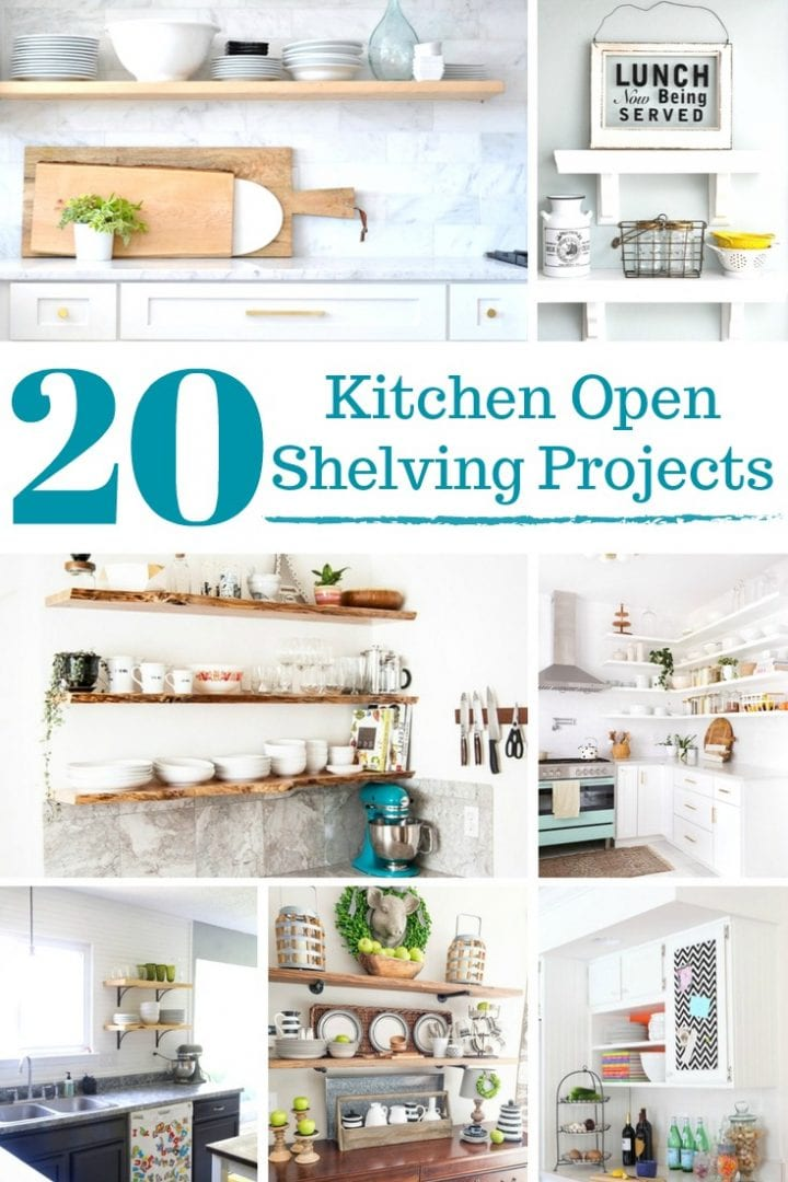 20 DIY Kitchen Open Shelving Projects