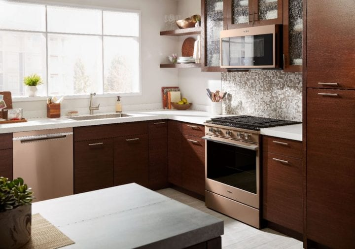 Kitchen Style Edit: Bronze Appliances Whirlpool Convection Over-the-Range Microwave