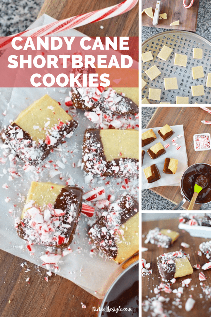 Candy cane shortbread cookies recipe