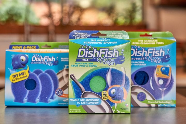 Clean with DishFish the perfect scrubbing sponge #lovemydishfish