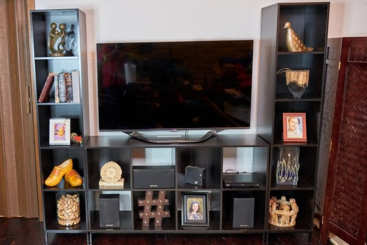 Walmart Mainstays Cube Storage Home Entertainment Center 1