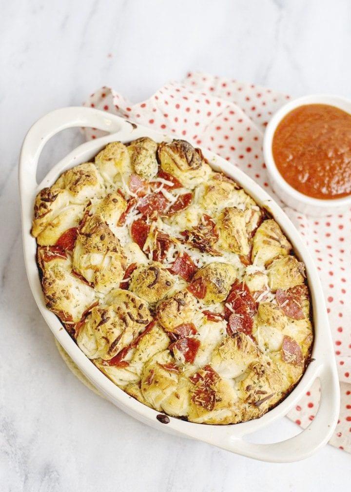 Pepperoni and Mozzarella Pull Apart Bread Recipe