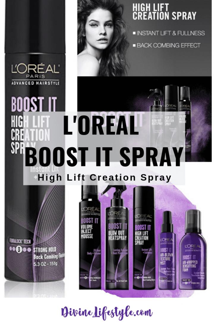 LOreal Boost It Hair Spray | Advanced High Lift Creation Spray
