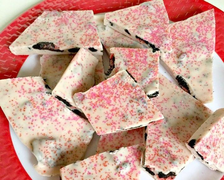 Valentine's Day Strawberry OREO Bark