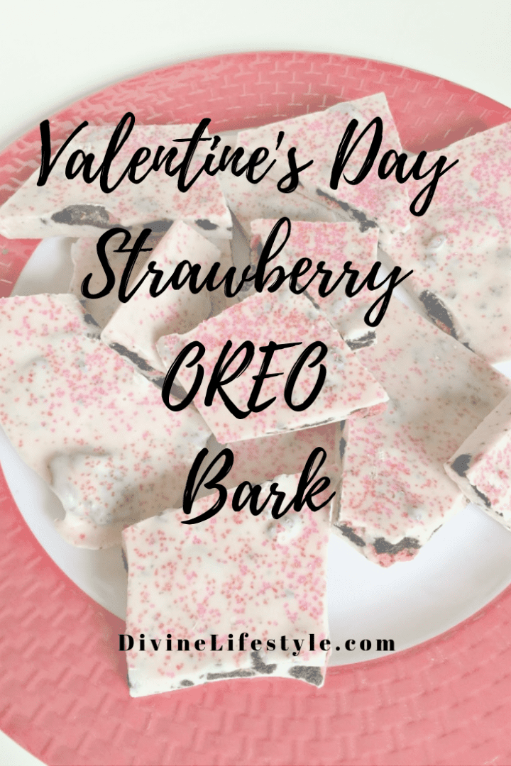 Valentine's Day Strawberry OREO Bark