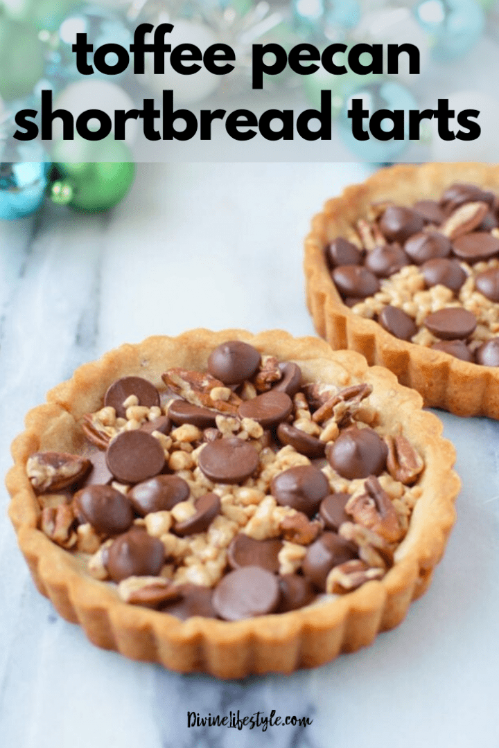 Toffee Pecan Shortbread Tarts