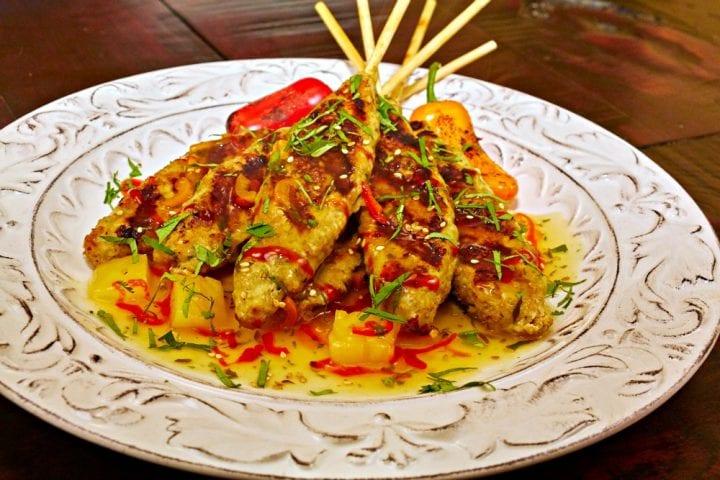 Pineapple Chicken Satay Appetizer Recipe 11