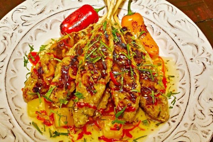 Pineapple Chicken Satay Appetizer Recipe 2