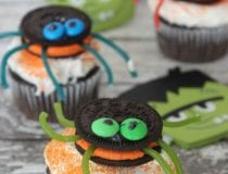 Spider Cupcakes with OREO Cookies