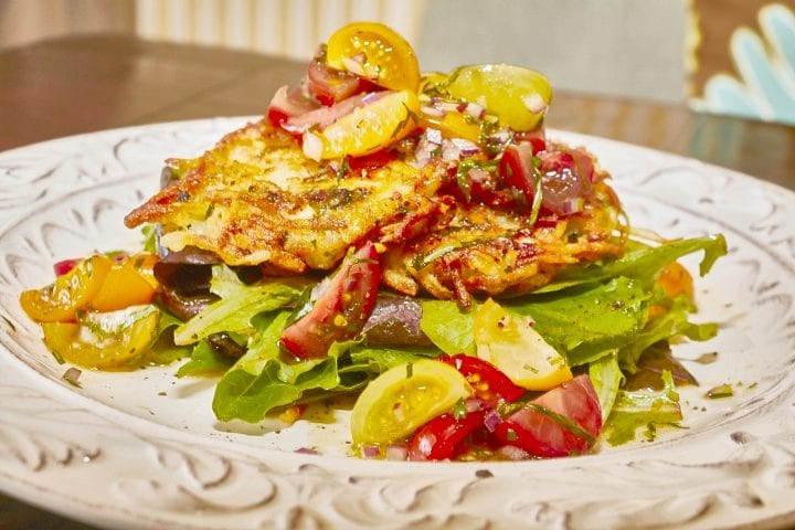 Chevre Potato Cakes with Fresh Tomato Salad Recipe 10