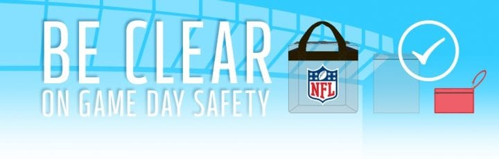 Stylish NFL Clear Bags in all price ranges NFL ALL CLEAR BAG POLICY