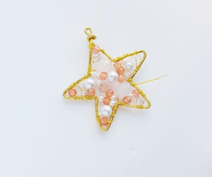 DIY Beaded Wire Star Christmas Ornament