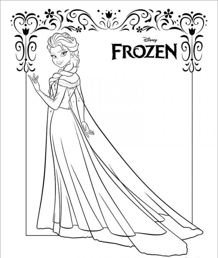Disney FROZEN Printables Coloring Pages Activity Sheets