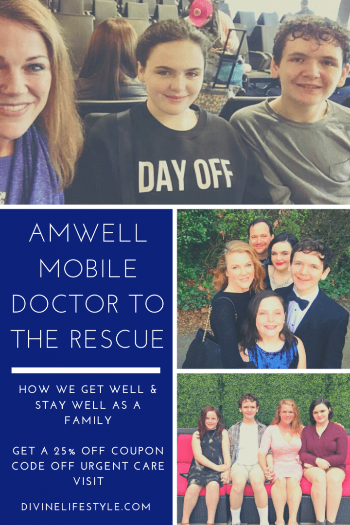 Amwell Mobile Doctor to the rescue #getwellwithamwell #momsloveamwell